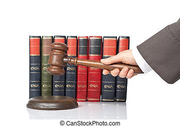juge, annoncer, verdict