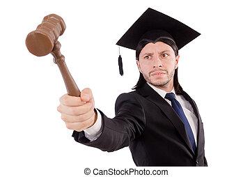 juge, blanc, isolé, fond