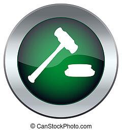 juge, bouton, marteau