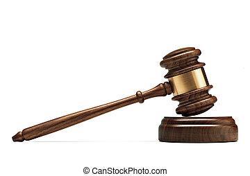 juge, caisse de résonnance, bois, isolé, arrière-plan.,...