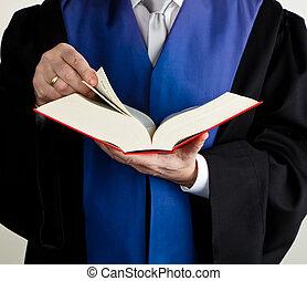 juge, dans, tribunal, à, code