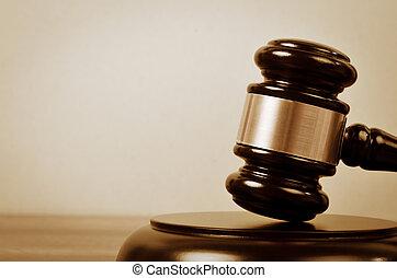 juge, droit & loi, et, justice, symbole.