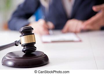 juge, et, sien, marteau, dans, droit & loi, concept
