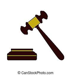 juge, icône, marteau