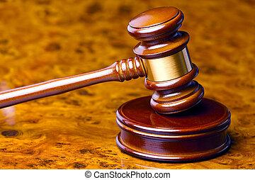 juge, marteau, de, a, juge, dans, tribunal