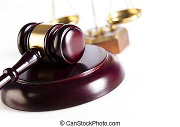 juge, marteau, paragraphe, signe, symbole