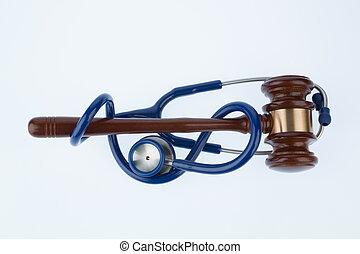 juge, marteau, stéthoscope