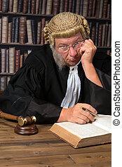 juge, percé, tribunal