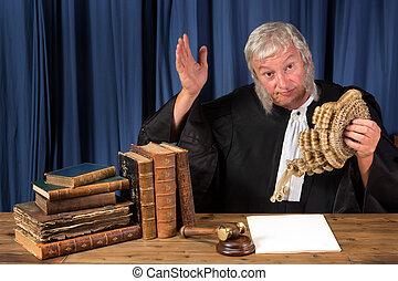juge, perruque, partir