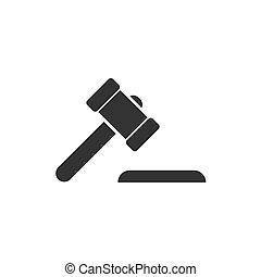 juge, plat, martelez icône