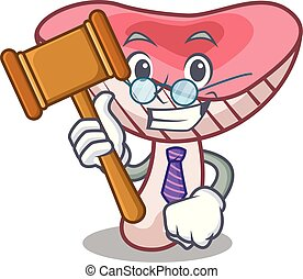 juge, russule, dessin animé, champignon, mascotte