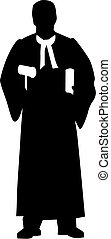 juge, silhouette