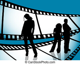 jugend, film- streifen