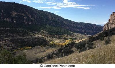 jugendlich,  16, Strecke,  Wyoming, schlucht, Schlaf