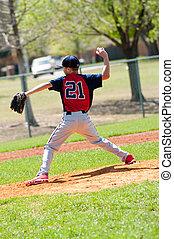 jugendlich, baseball- krug