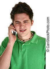 jugendlich, cellphone, attraktive