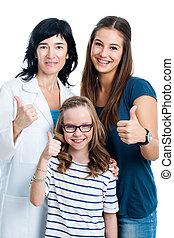 jugendlich, dentist., jünger, schwester, m�dchen