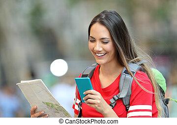 jugendlich, informationen, beraten, tourist, online