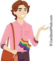 jugendlich, kerl, gay, erklären, abbildung