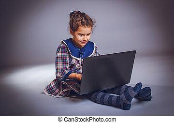 jugendlich, laptop, erscheinen, jahre, 5, aussehen, mï¿...