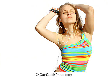 jugendlich, musik- hören, tanzen