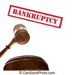 juges, tribunal, texte, marteau, blanc, faillite