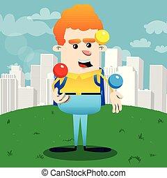 juggler., 男生徒