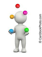 Juggler 3D Character