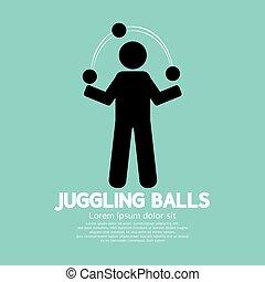 Juggling Balls Symbol Vector Illustration