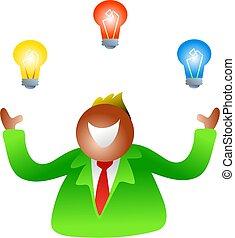 juggling bulbs