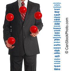 Juggling Businessman - Business Concept for time managemant,...