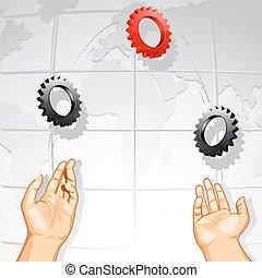 Juggling Cog Wheel