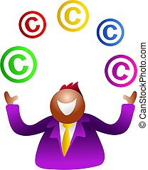 juggling copyright - icon people