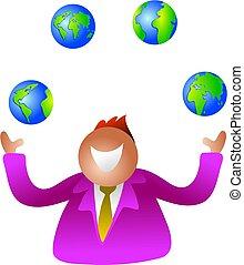 juggling globes