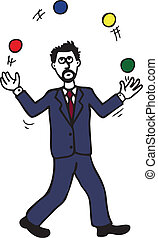 Juggling Man - Business trying to make sense of his tricky...