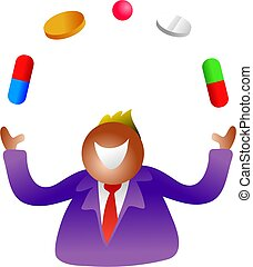 juggling pills