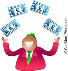 juggling pounds - money man