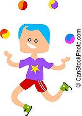 Juggling - boy juggling