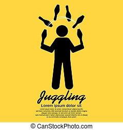 Juggling.