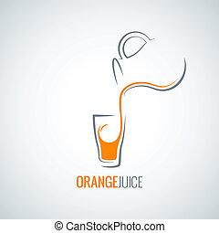 jugo de naranja, botella, plano de fondo, vidrio