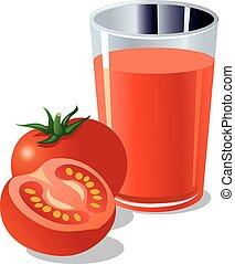 jugo del tomate