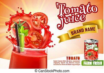 jugo del tomate, publicidad, cartel