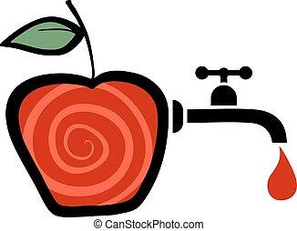 jugo, manzana