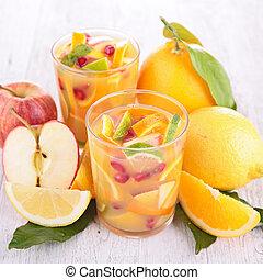 jugo, refrescante