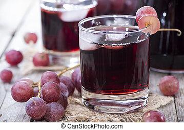 jugo, uva, rojo