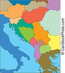 jugoslavien, tidigare, länder