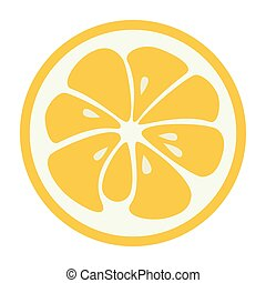 jugoso, fruta, icon., limón, logotipo, toronja, amarillo, elegante