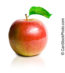 jugoso, súper, fresco, apple.