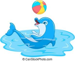 juguetón, delfín