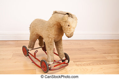 juguete, caballo de balancín